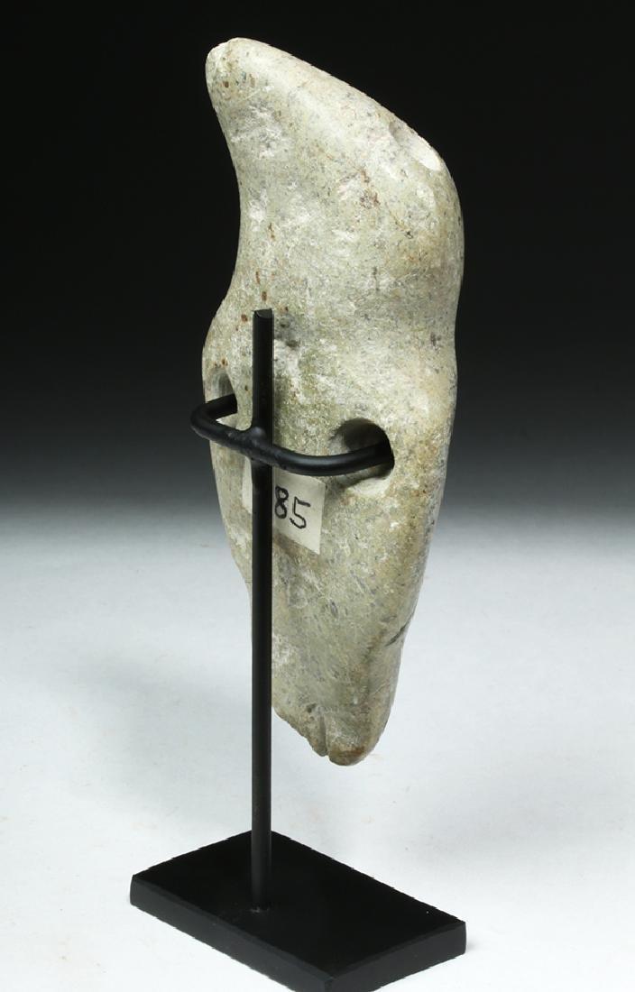 Unusual Guerrero Mezcala White Stone Figure - 4