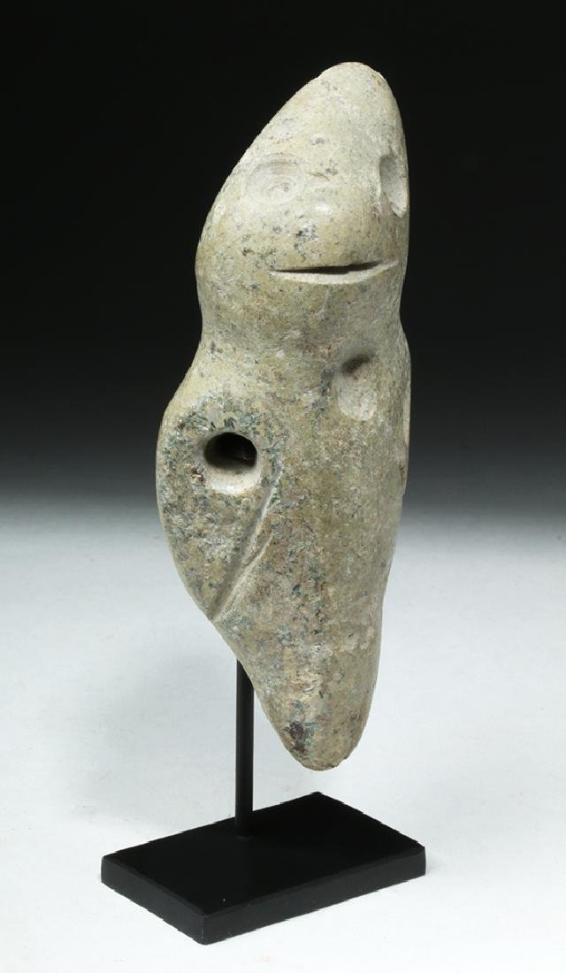 Unusual Guerrero Mezcala White Stone Figure - 5