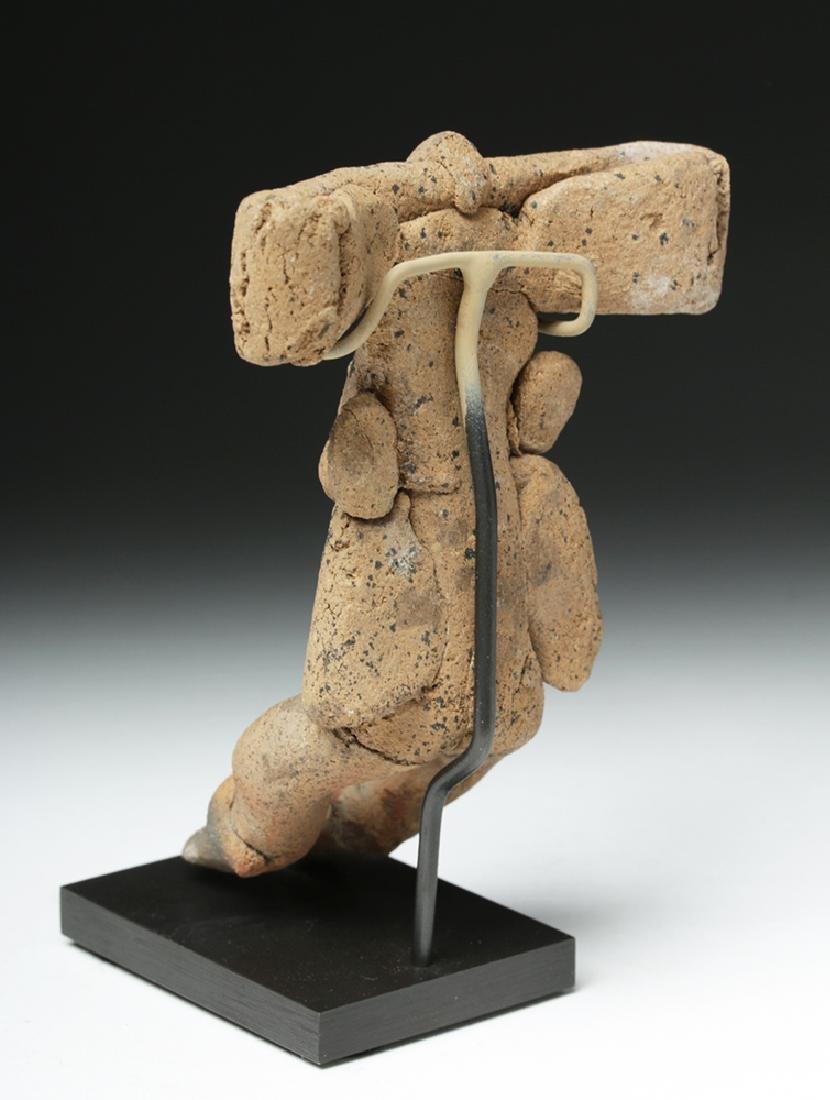 Teotihuacan Seated Pottery Human Figure, Huge Headdress - 3