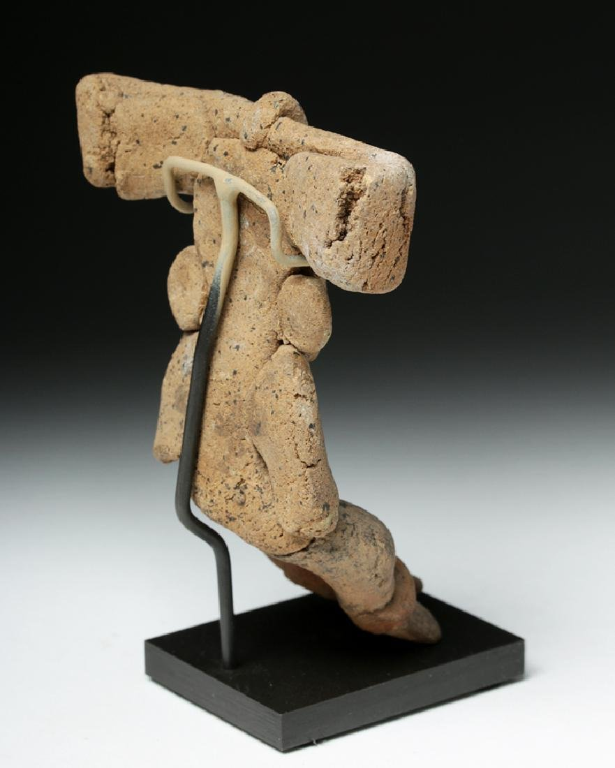 Teotihuacan Seated Pottery Human Figure, Huge Headdress - 4