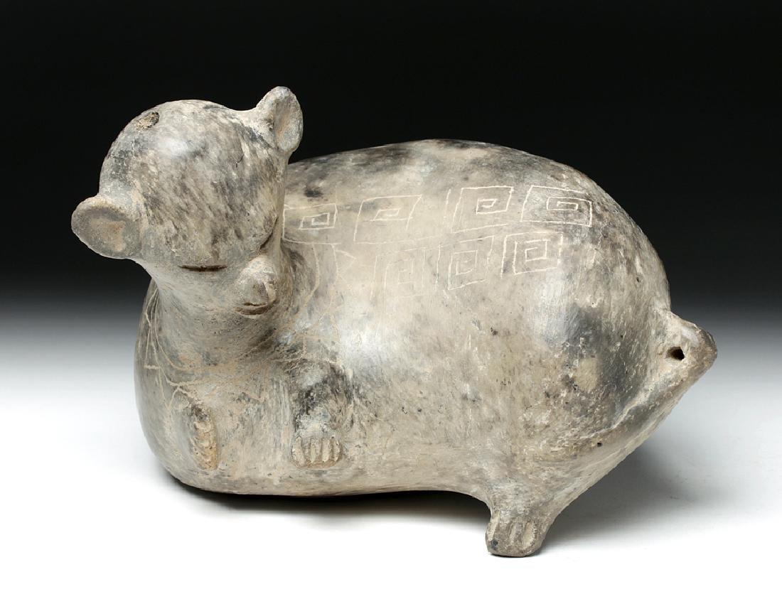 Ancient Guangala Pottery Dog Effigy