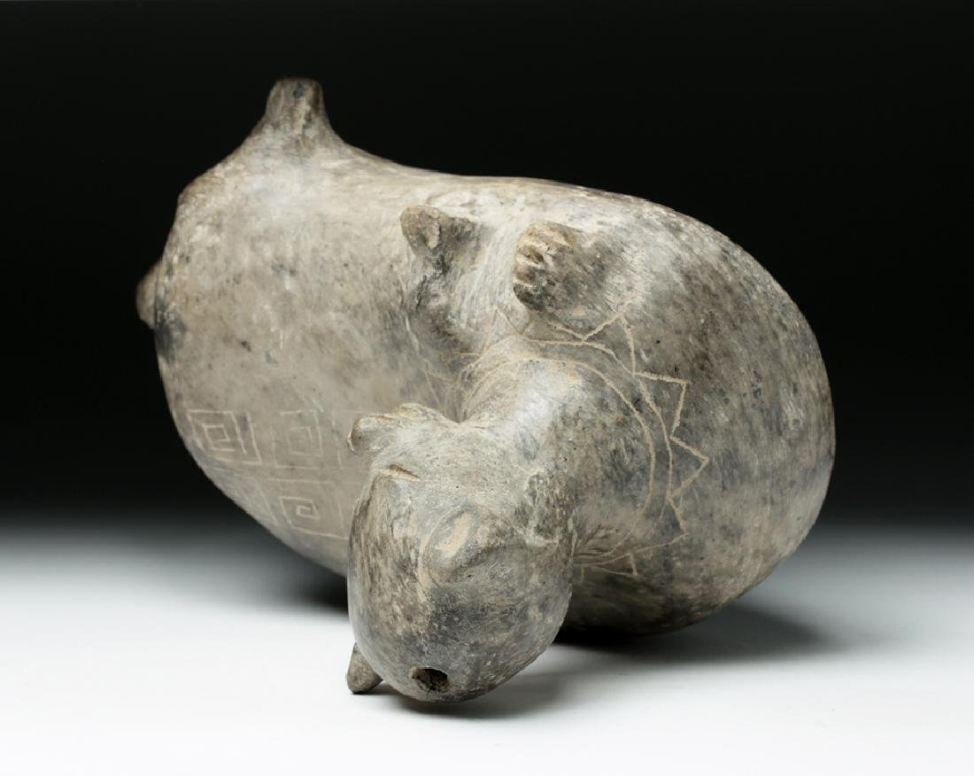 Ancient Guangala Pottery Dog Effigy - 6