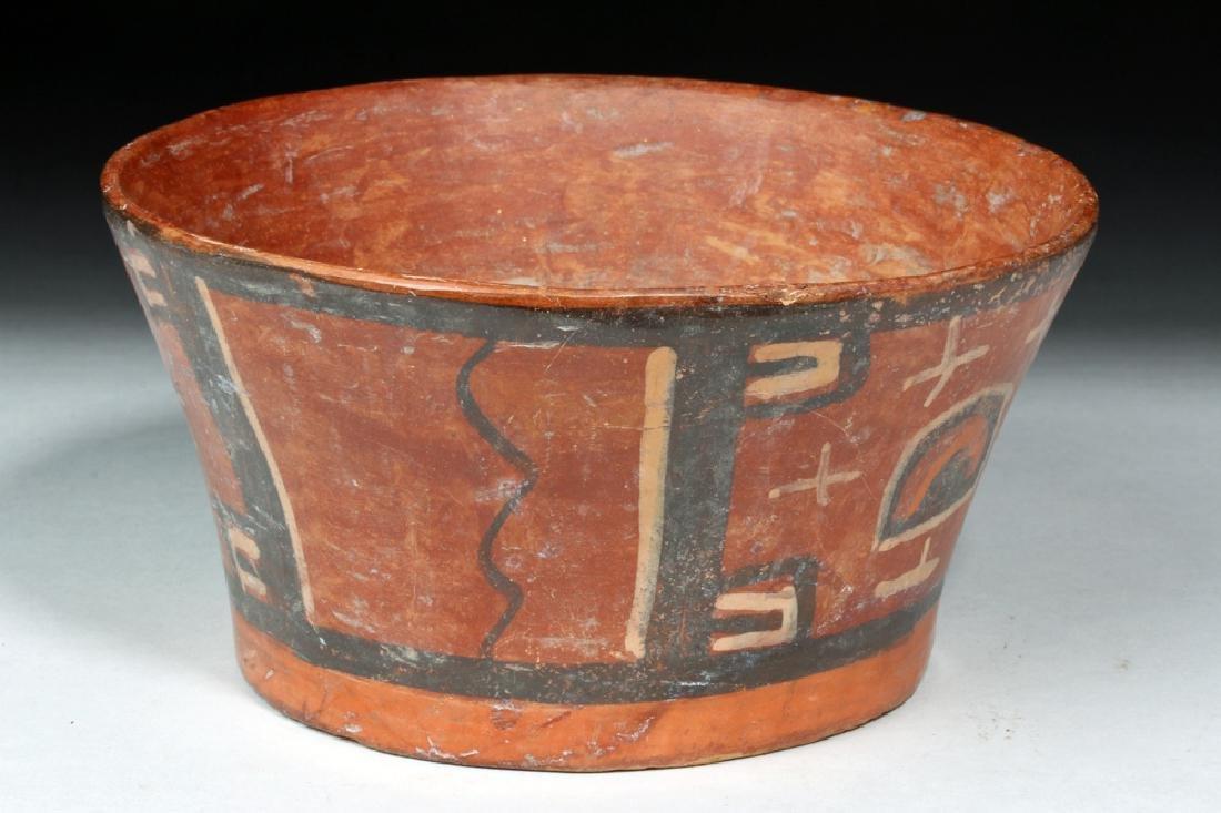 Tihuanaco Polychrome Flared Bowl - Huts - 2