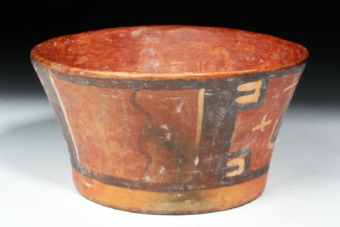 Tihuanaco Polychrome Flared Bowl - Huts - 4