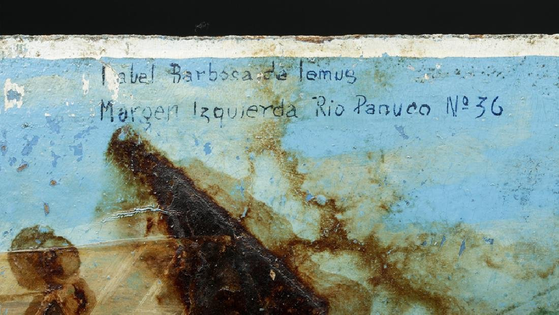 20th C. Rare Mexican Ex Voto - Paint on Board - 4