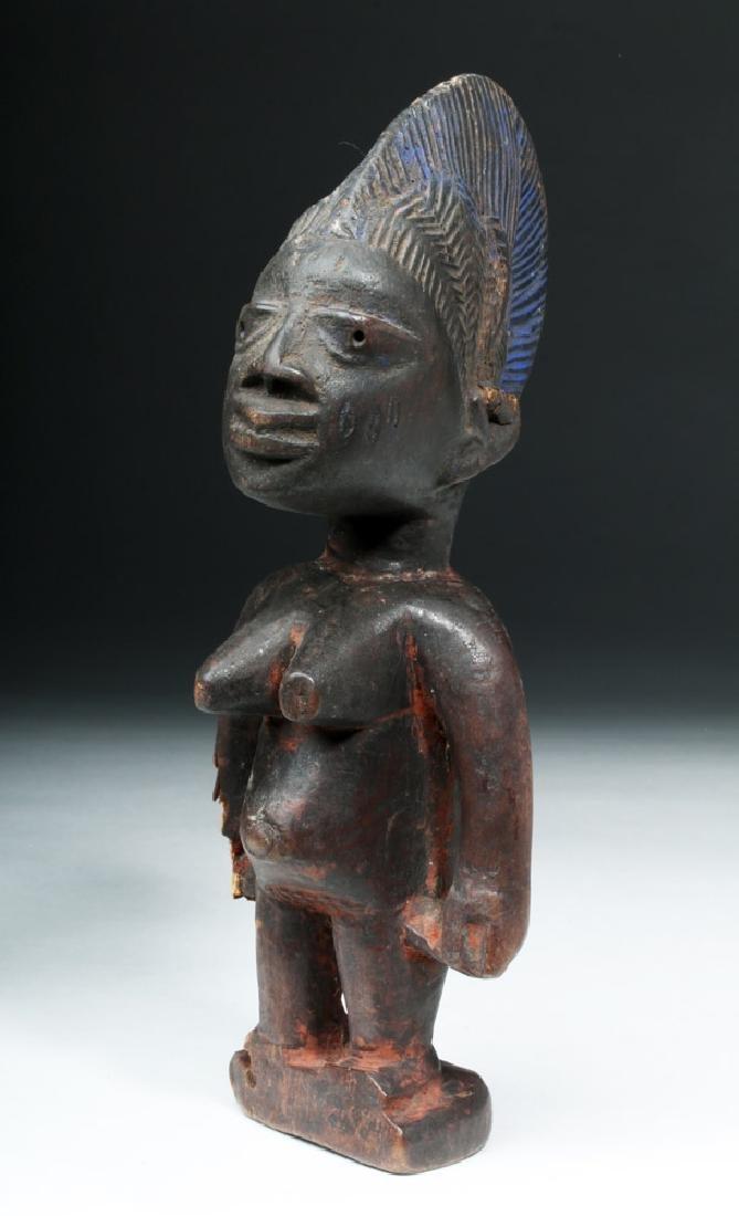 African Yoruba Ere-Ibeji Wooden Female Figure - 2
