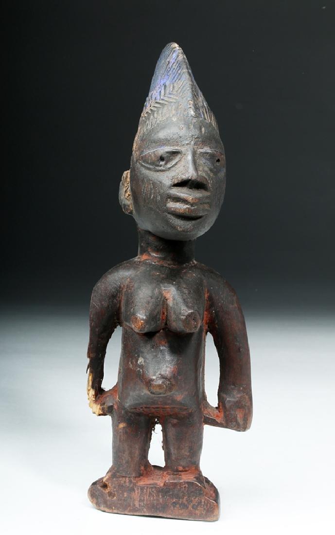 African Yoruba Ere-Ibeji Wooden Female Figure - 3