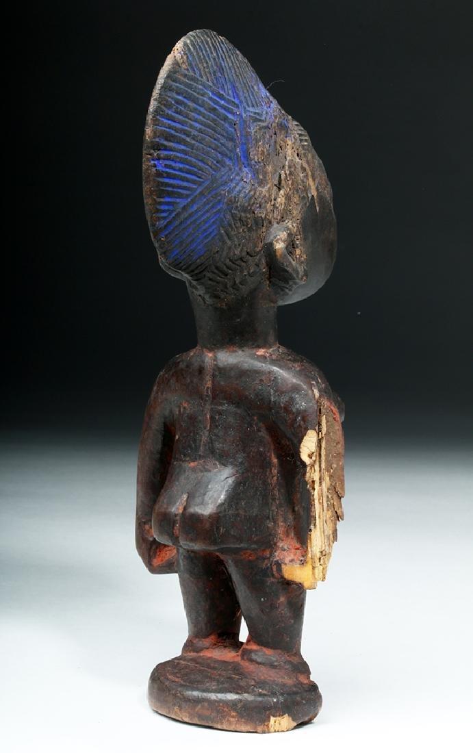 African Yoruba Ere-Ibeji Wooden Female Figure - 5