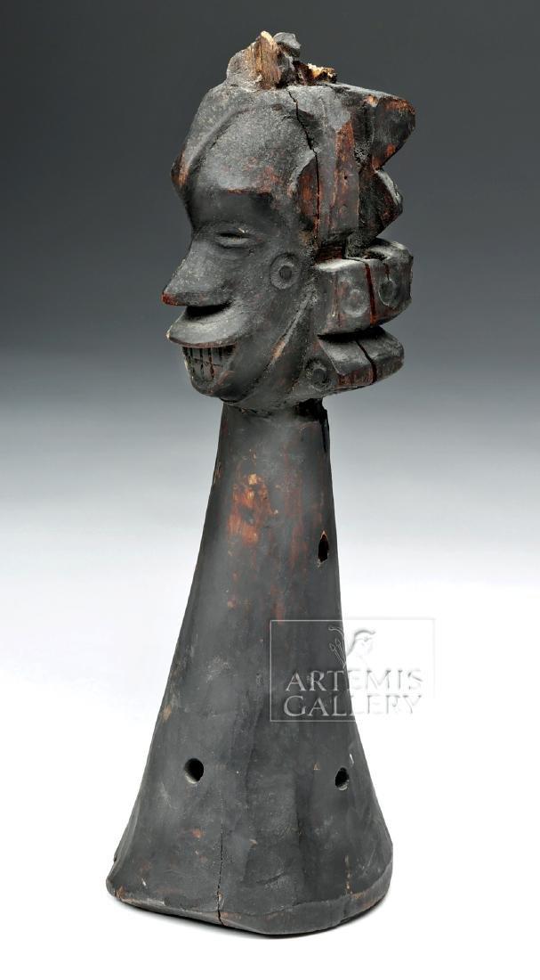 Mid-20th C. African Igbo Wooden Headdress Element