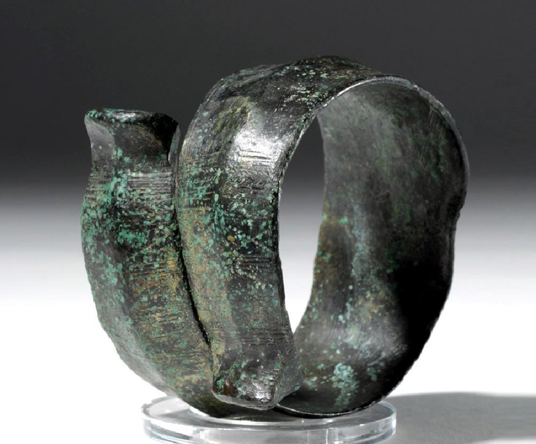 Huge Ancient Danubian Gilded Bronze Armband