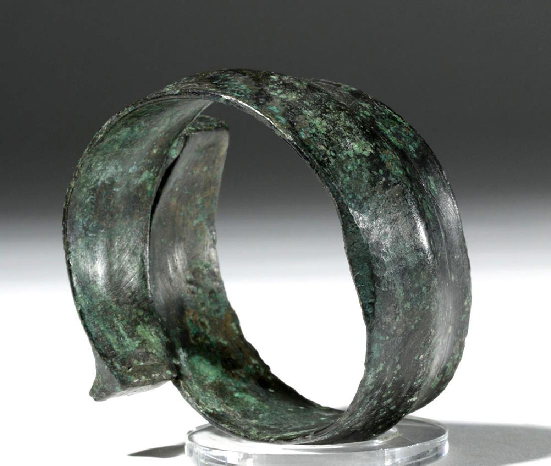 Huge Ancient Danubian Gilded Bronze Armband - 2