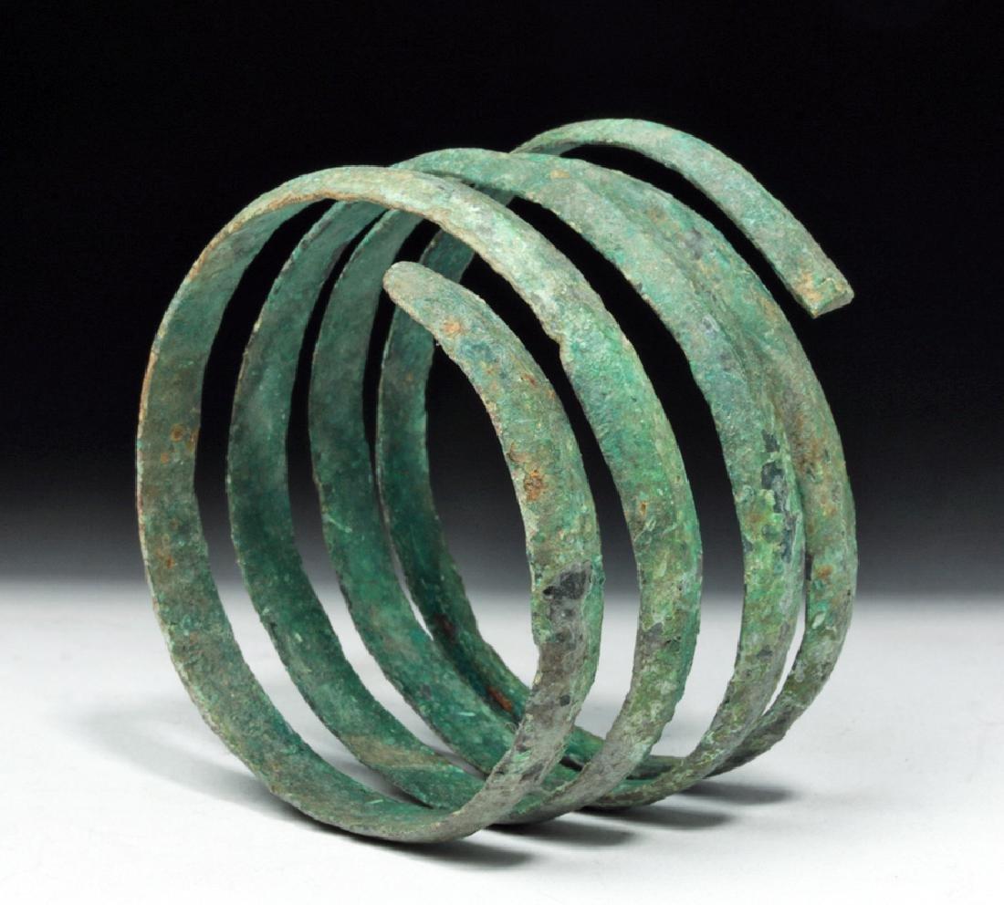 Hallstatt Bronze Coiled Bracelet - Lovely Patina