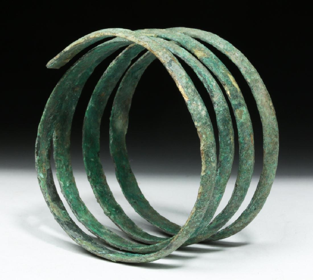 Hallstatt Bronze Coiled Bracelet - Lovely Patina - 3