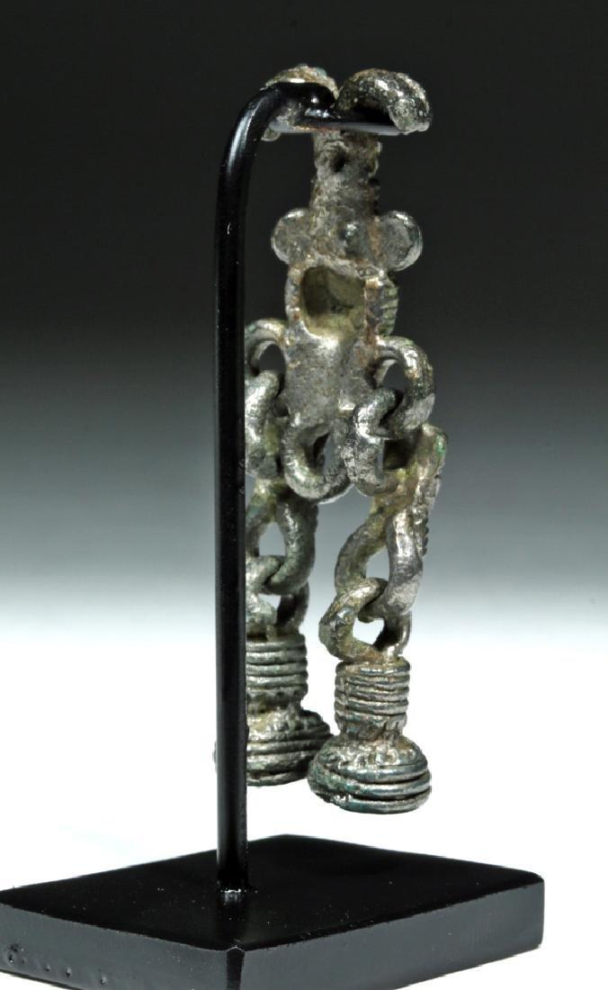 Rare 8th C. Russian Proto Viking White Bronze Pendant - 3