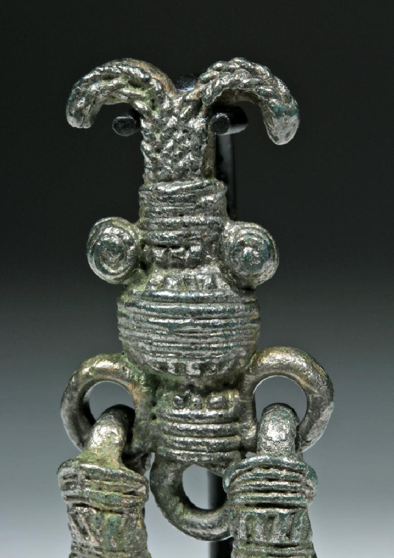Rare 8th C. Russian Proto Viking White Bronze Pendant - 6