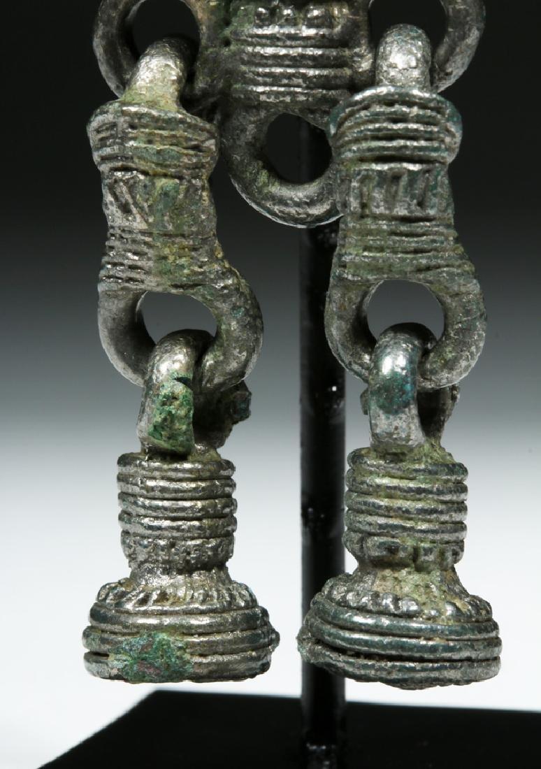 Rare 8th C. Russian Proto Viking White Bronze Pendant - 7