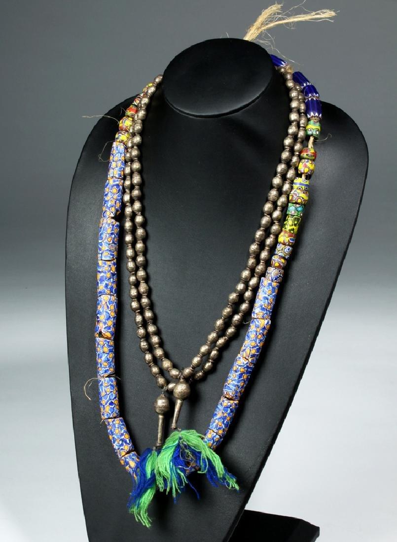 3 Strands Venice Trade Beads & Ethiopia Prayer Beads