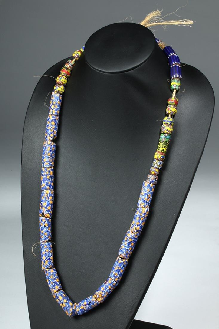 3 Strands Venice Trade Beads & Ethiopia Prayer Beads - 2