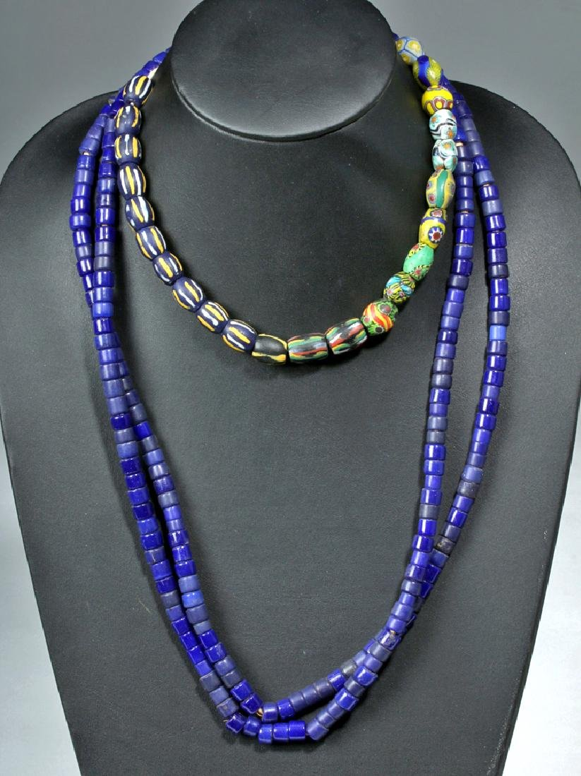 Three Strands of 18th C. European Glass Trade Beads