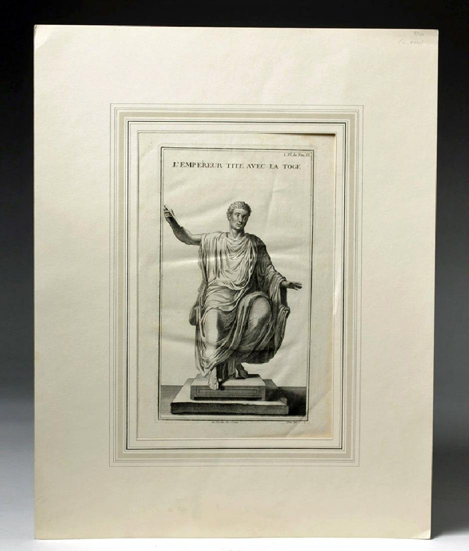 18th C French Neoclassical Etching - Titus in Toga