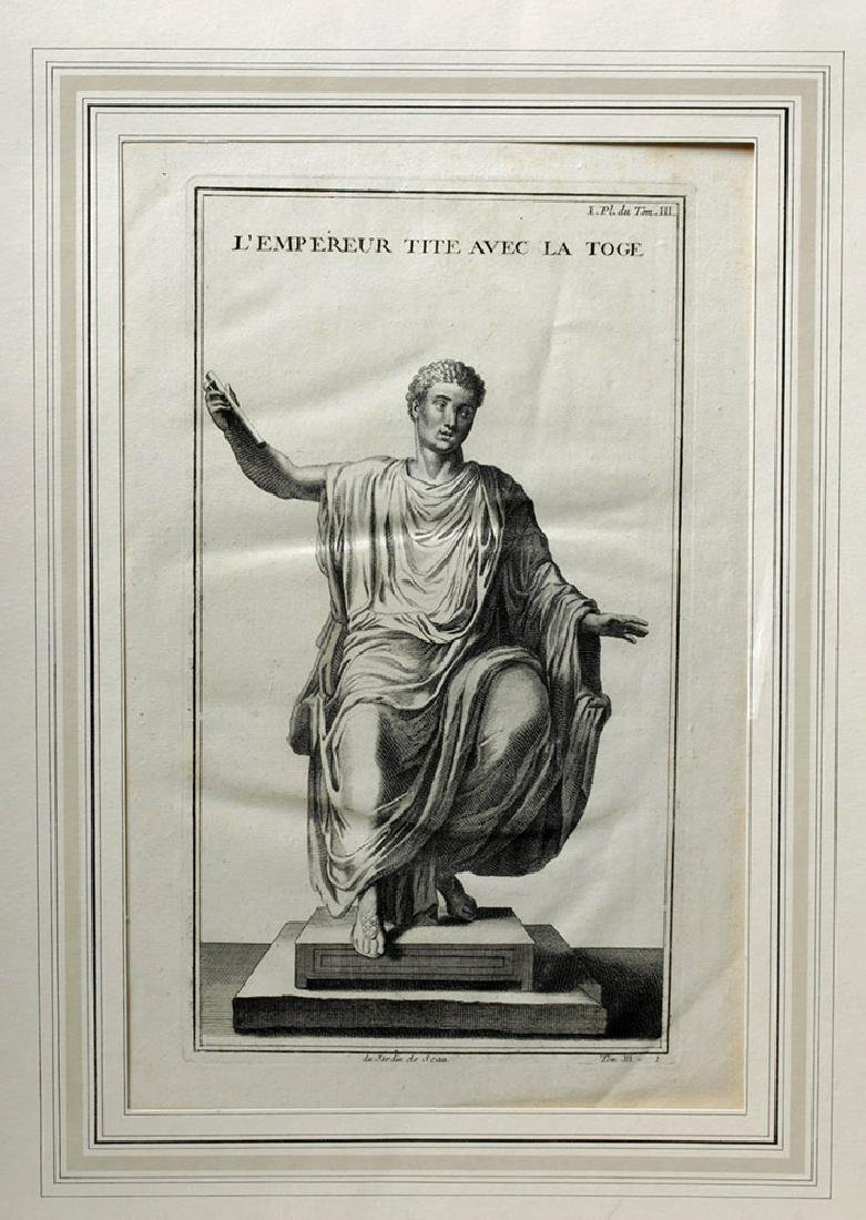 18th C French Neoclassical Etching - Titus in Toga - 2