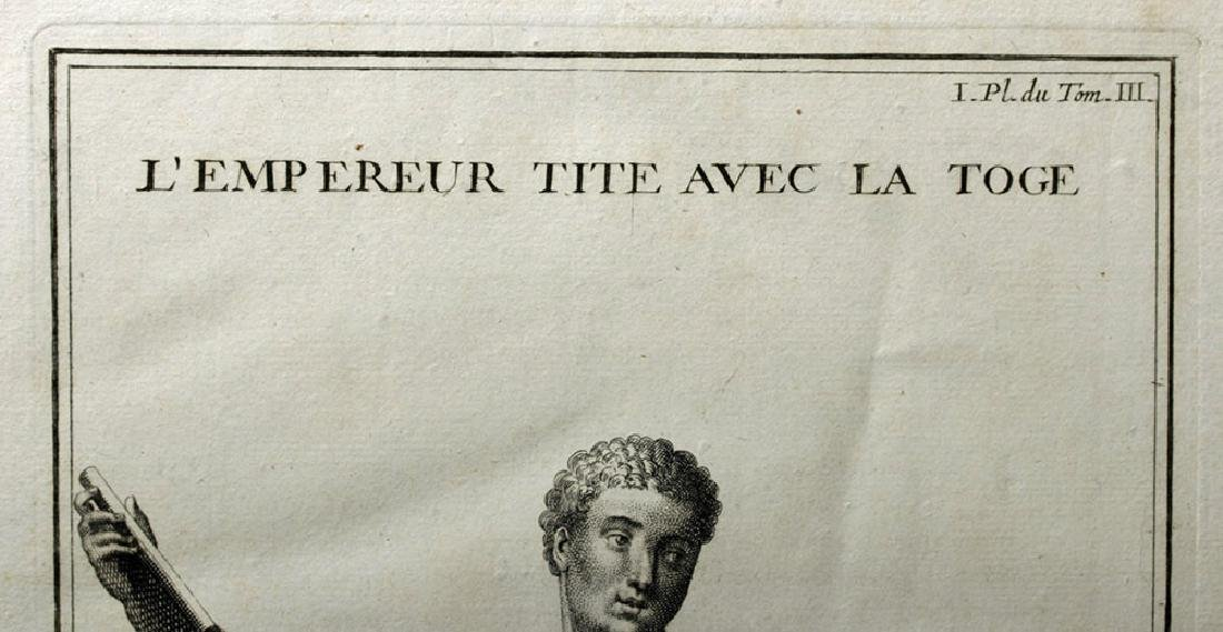 18th C French Neoclassical Etching - Titus in Toga - 4