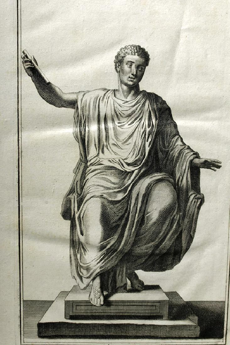 18th C French Neoclassical Etching - Titus in Toga - 5