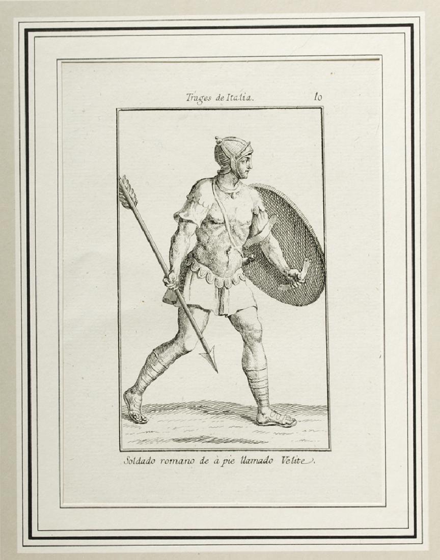 18th C. Italian Etchings, Roman Soldiers-Consuls (6) - 4