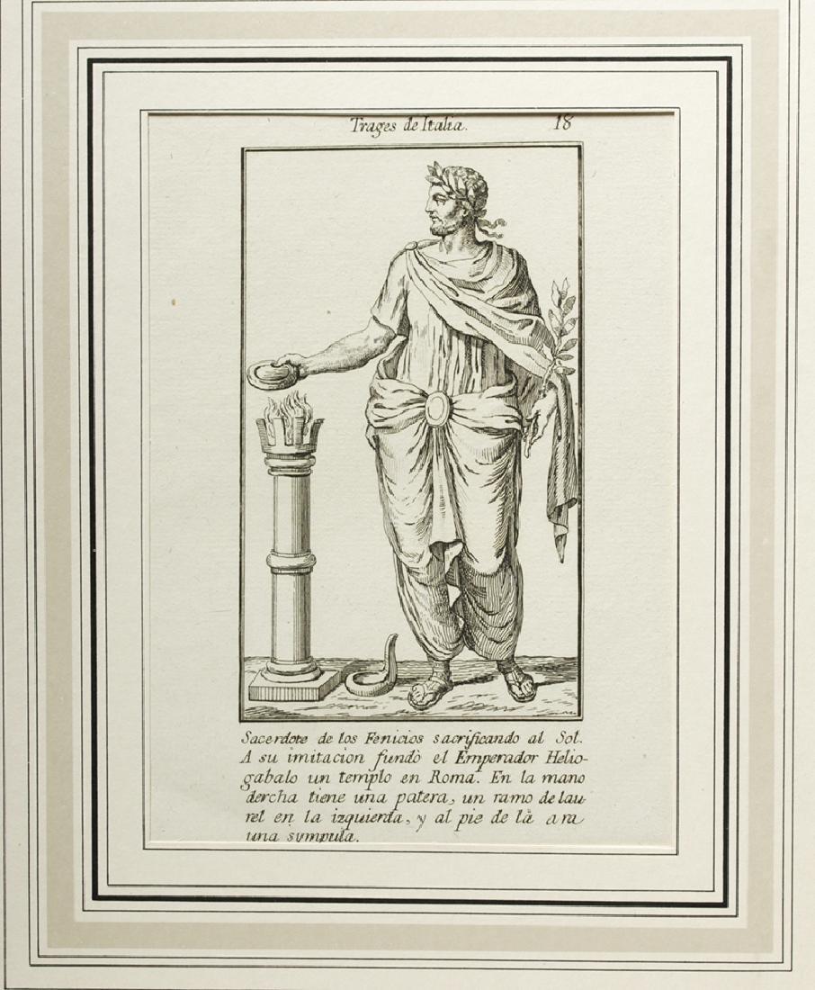 18th C. Italian Etchings, Roman Soldiers-Consuls (6) - 5