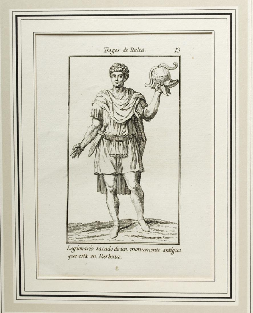 18th C. Italian Etchings, Roman Soldiers-Consuls (6) - 7