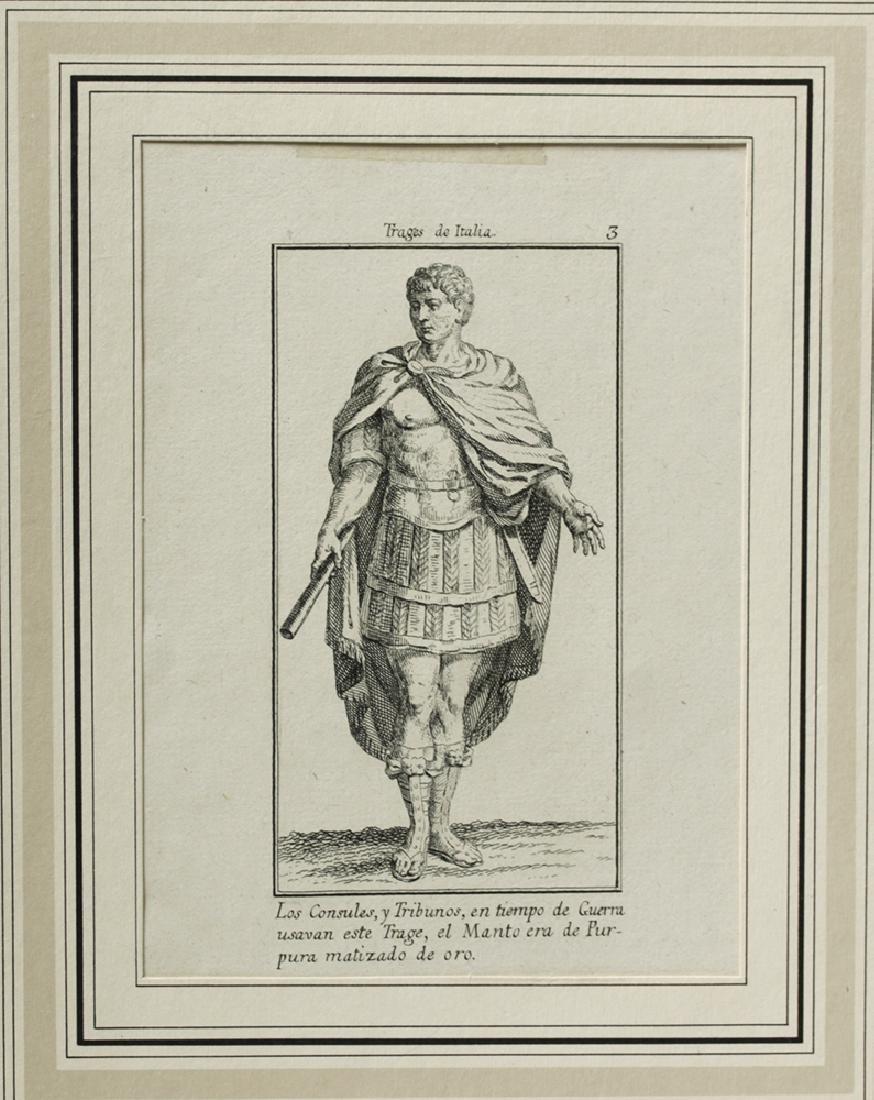 18th C. Italian Etchings, Roman Soldiers-Consuls (6) - 8