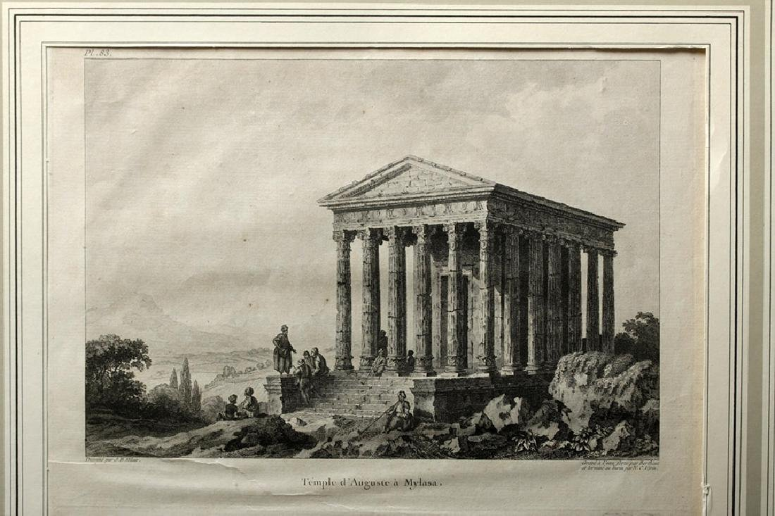 18th C French Etchings - Temple in Mylasa (Milas) - 2