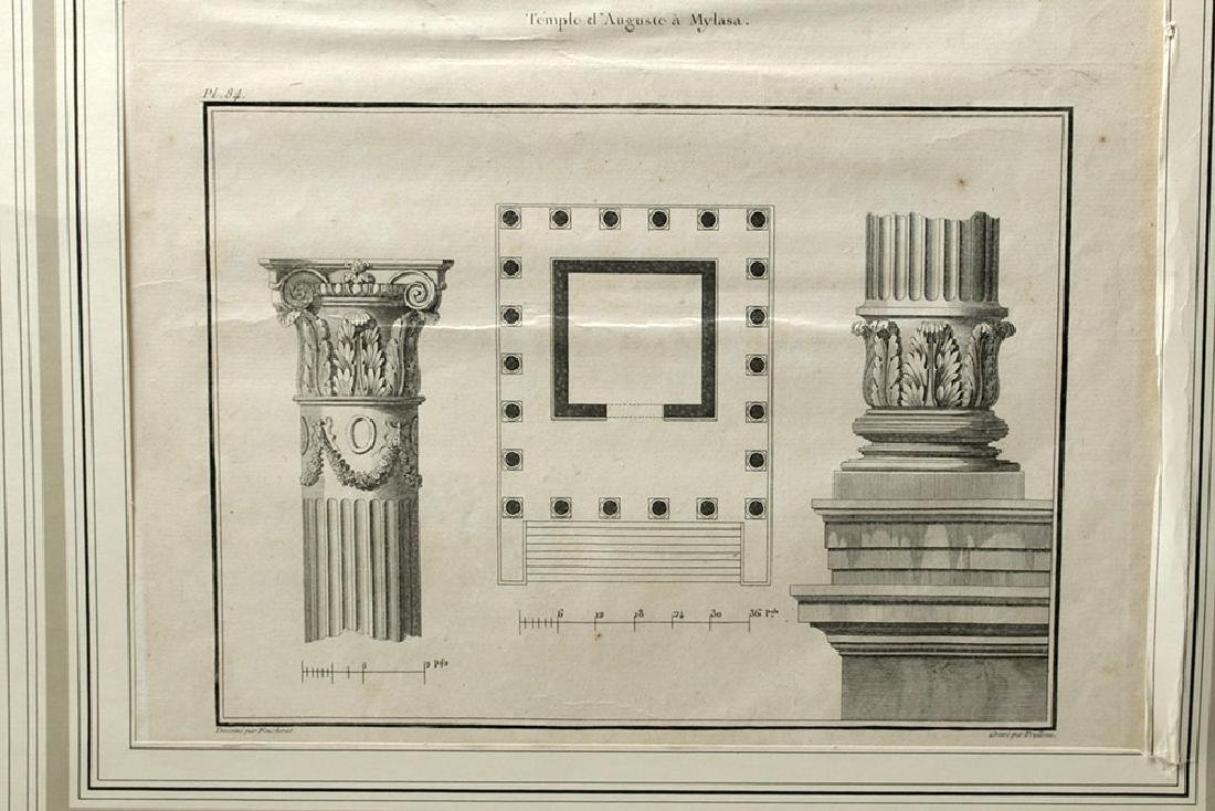 18th C French Etchings - Temple in Mylasa (Milas) - 3