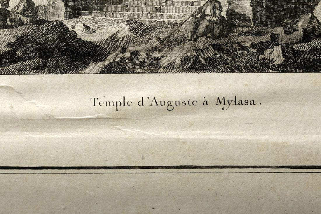 18th C French Etchings - Temple in Mylasa (Milas) - 4