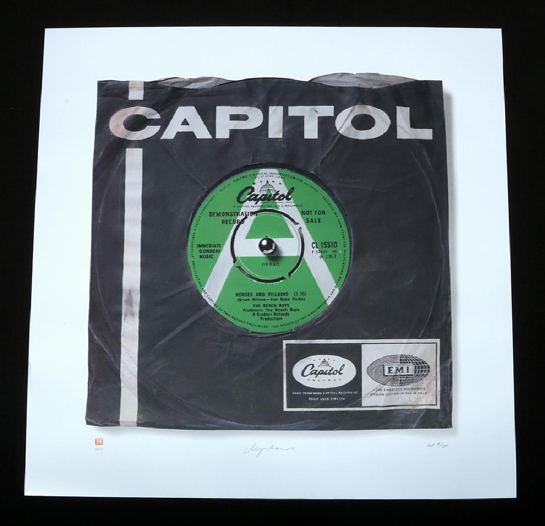 Signed Beach Boys 'Heroes and Villains' Vinyl Print