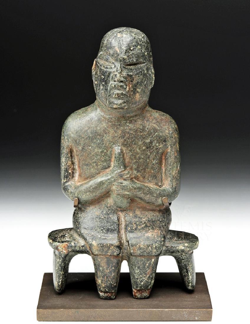 Important Olmec Stone Seated Figure, ex-Dubiner