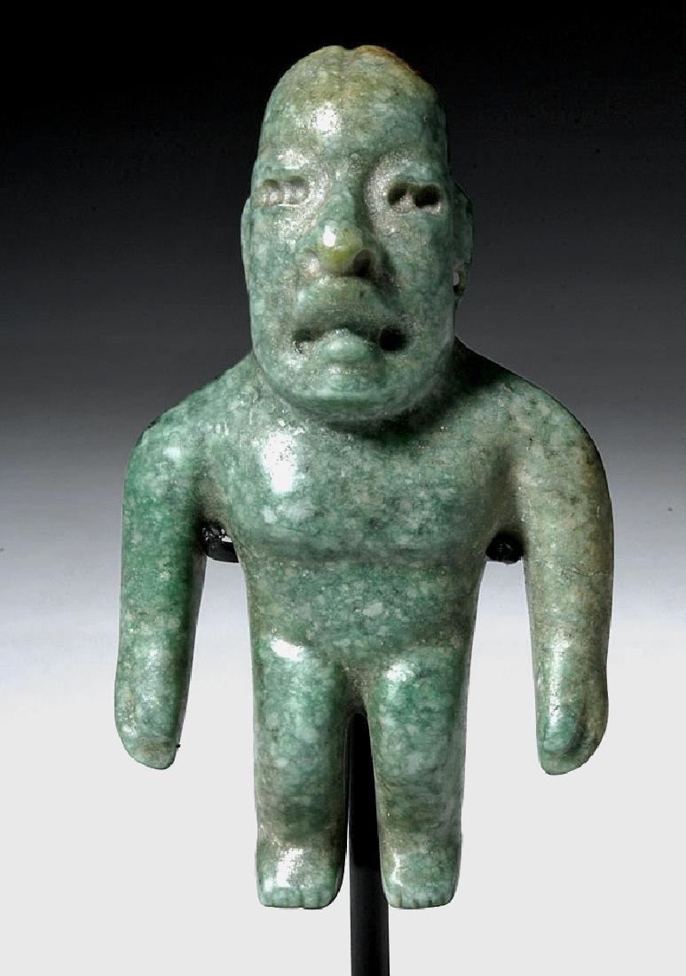 Near-Miniature Olmec Jade Were Jaguar Figure