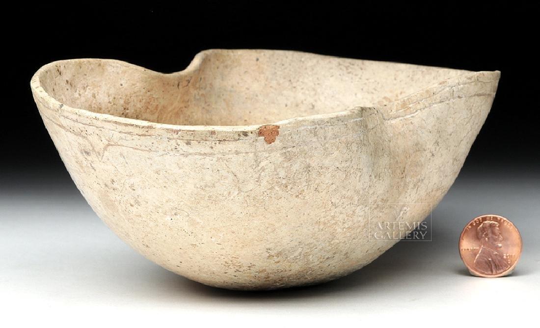 Olmec Kaolin Kidney-Shaped Bowl - TL Tested - 5