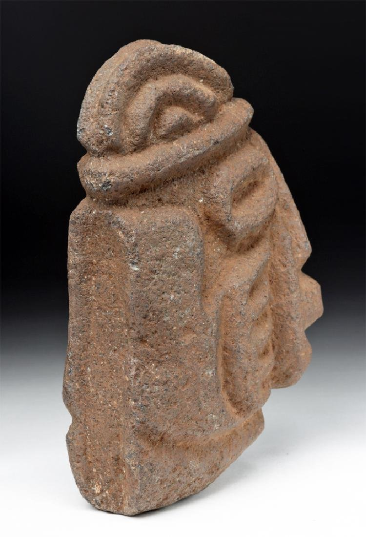 Mayan Stone Hacha - Anthropomorphic Face w/ Hands - 4