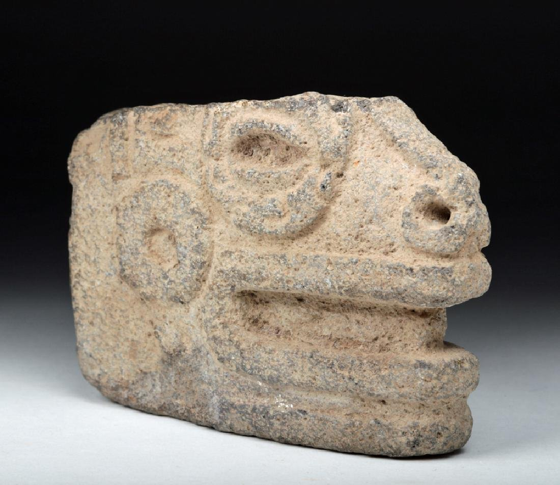 Mayan Stone Hacha Fragment - Head of Snake - 2