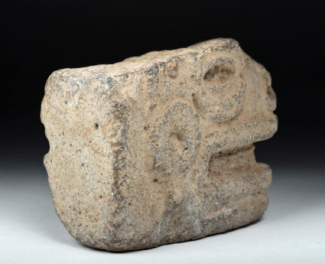 Mayan Stone Hacha Fragment - Head of Snake - 5