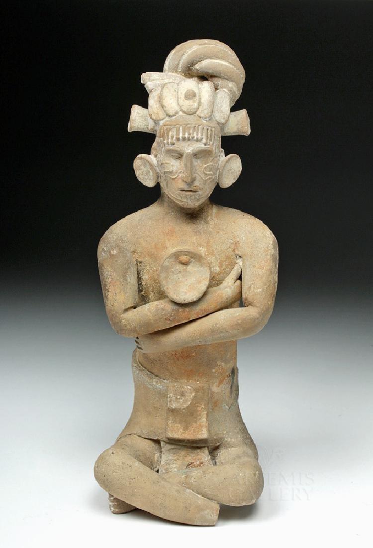 Mayan Jaina Terracotta Seated Lord - TL Tested