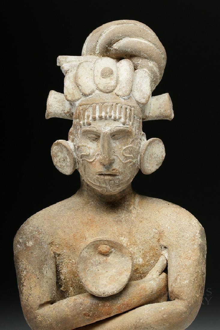 Mayan Jaina Terracotta Seated Lord - TL Tested - 2