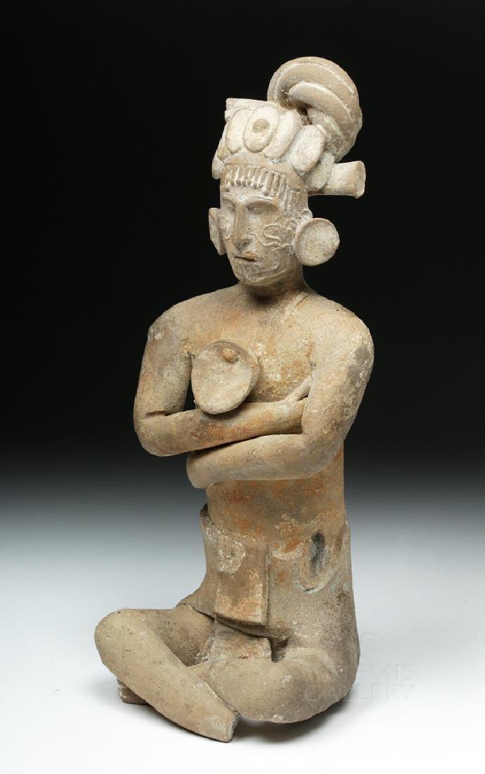 Mayan Jaina Terracotta Seated Lord - TL Tested - 3