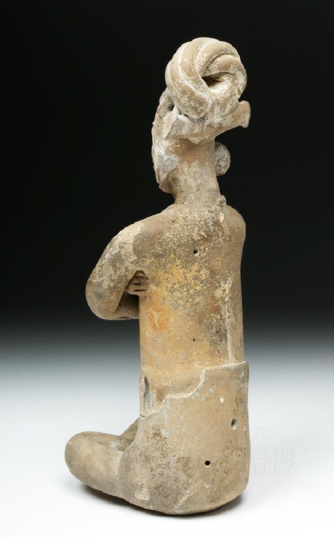 Mayan Jaina Terracotta Seated Lord - TL Tested - 4