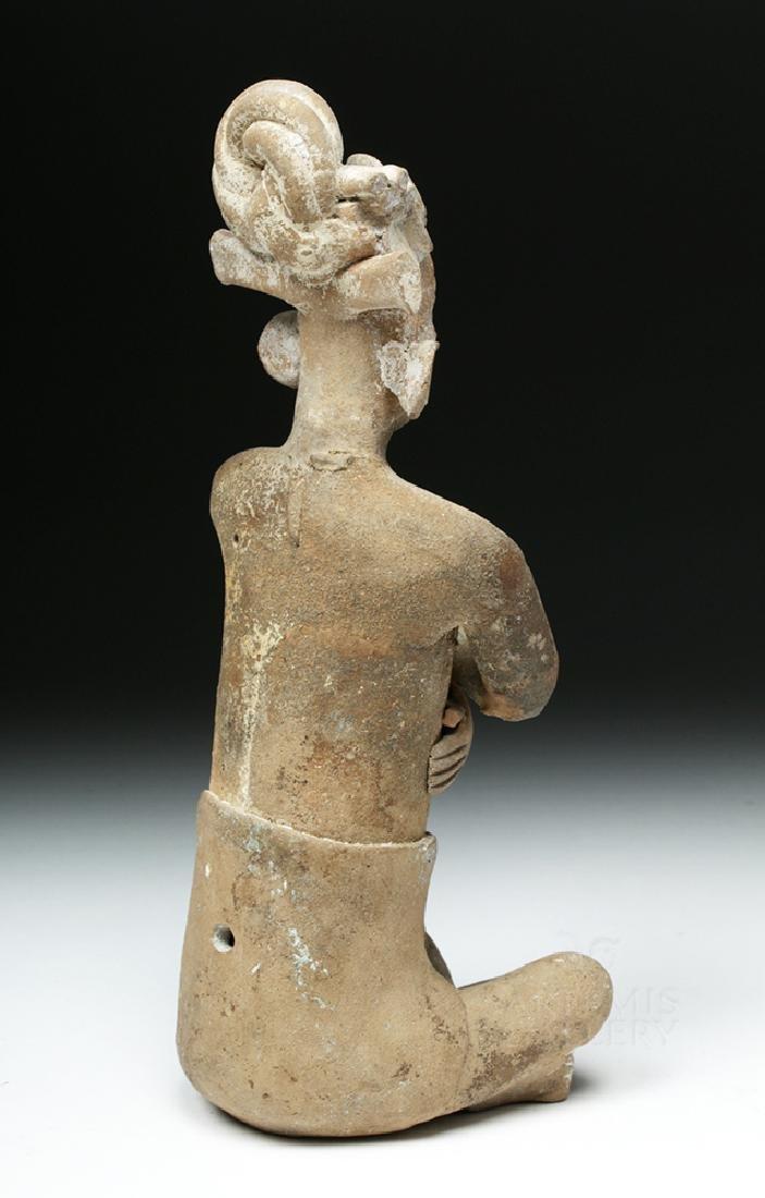 Mayan Jaina Terracotta Seated Lord - TL Tested - 5