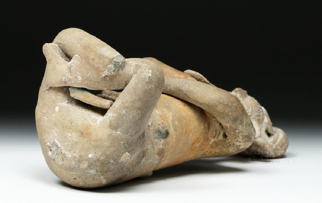 Mayan Jaina Terracotta Seated Lord - TL Tested - 7