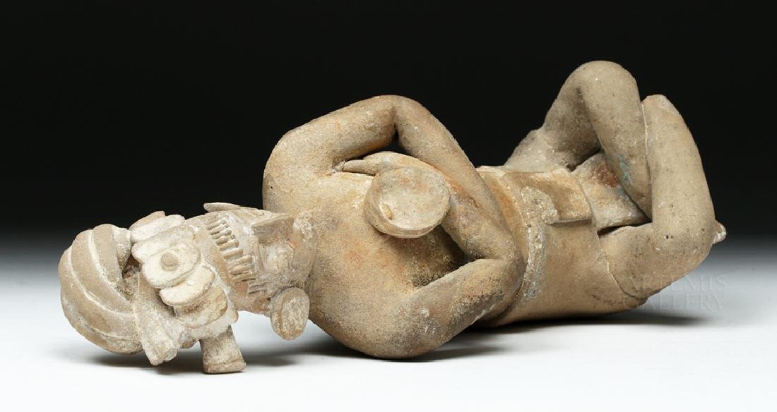 Mayan Jaina Terracotta Seated Lord - TL Tested - 8