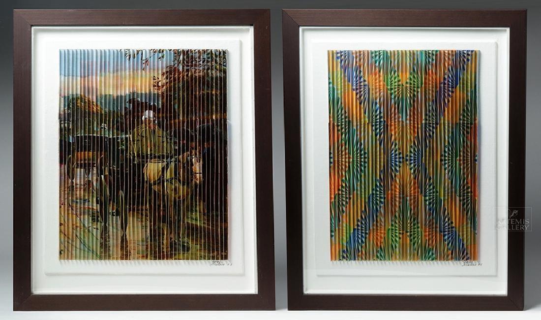 Perez Frelero Framed Mixed Media Works, 2002 (pr)