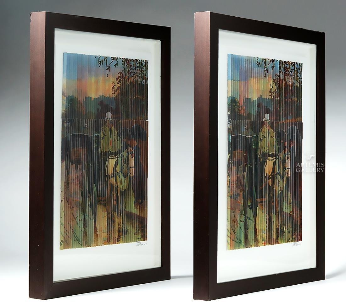 Perez Frelero Framed Mixed Media Works, 2002 (pr) - 2